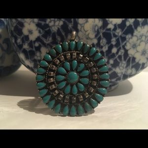 Turquoise circle charm